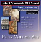 St. John Schola Volume 5-8 Set MP3 DOWNLOAD EDITION